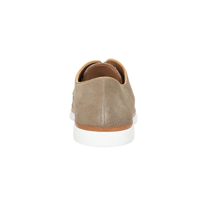 Ležérne kožené poltopánky bata, béžová, 843-8623 - 17