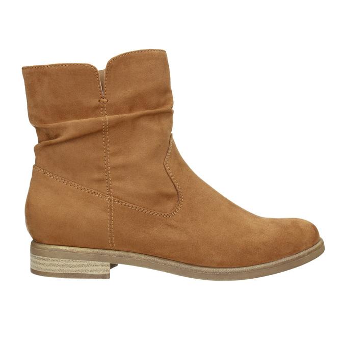 Hnedé členkové čižmy bata, hnedá, 599-4614 - 15