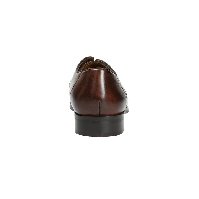 Hnedé kožené poltopánky bata, hnedá, 826-4796 - 17