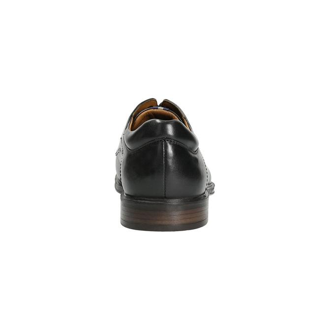 Pánske kožené poltopánky čierne bata, čierna, 824-6800 - 17