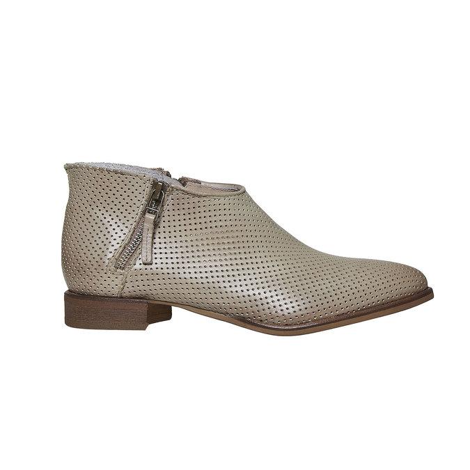 Kožené členkové čižmy bata, béžová, 594-2400 - 15