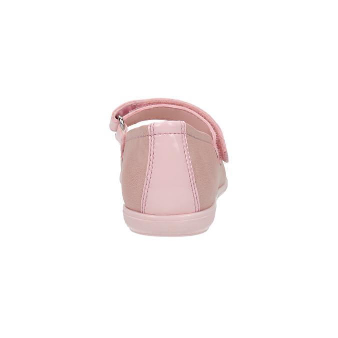 Detské kožené baleríny s kamienkami mini-b, ružová, 224-5600 - 17