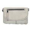 Crossbody kabelka s perforovanou klopou bata, šedá, 961-2709 - 26