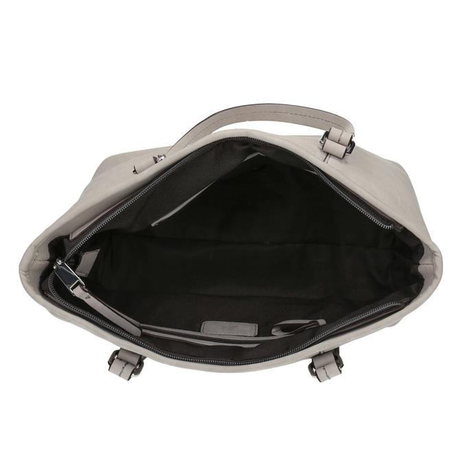 Dámska kabelka s perforovaným detailom bata, šedá, 961-2711 - 15
