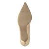 Kožené dámske lodičky pillow-padding, béžová, 626-8635 - 26