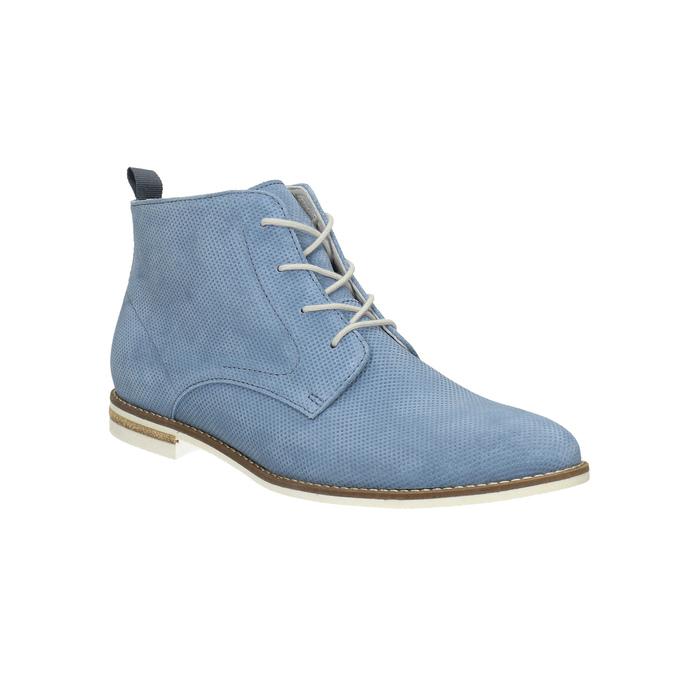 Kožená obuv nad členky bata, modrá, 593-9602 - 13