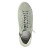 Kožené dámske členkové tenisky bata, zelená, 523-7602 - 19