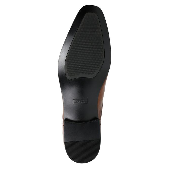 Hnedé kožené Oxford poltopánky bata, hnedá, 826-3819 - 26