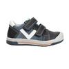 Detské kožené topánky na suchý zips bubblegummers, modrá, 116-9600 - 19