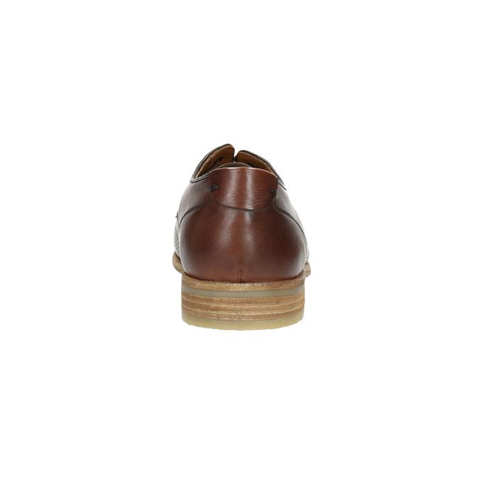 Ležérne kožené poltopánky hnedé bata, hnedá, 826-4807 - 17