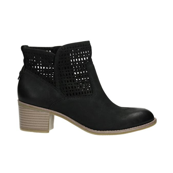 Kožené dámske jarné čižmy bata, čierna, 696-6643 - 15