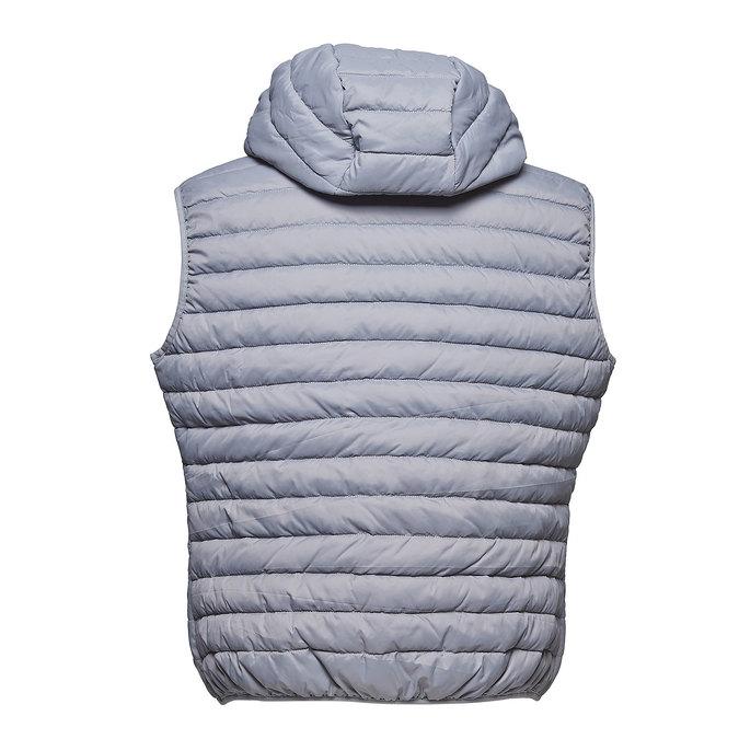 Pánska prešívaná vesta s kapucou bata, šedá, 979-2614 - 26