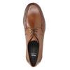 Kožené pánske poltopánky s výrazným prešitím bata, hnedá, 824-4838 - 19