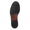 Kožené pánske poltopánky s výrazným prešitím bata, hnedá, 824-4838 - 26