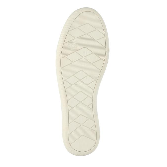 Dámske kožené tenisky s perforáciou bata, béžová, 526-8618 - 26