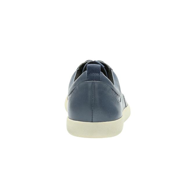 Dámske kožené tenisky modré bata, modrá, 526-9618 - 17