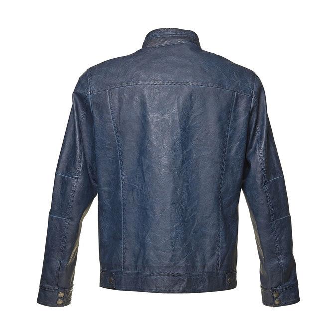 Koženková pánska bunda bata, modrá, 971-9194 - 26