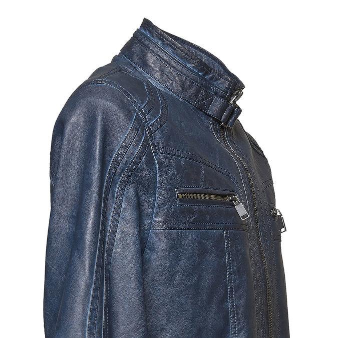 Koženková pánska bunda bata, modrá, 971-9194 - 16