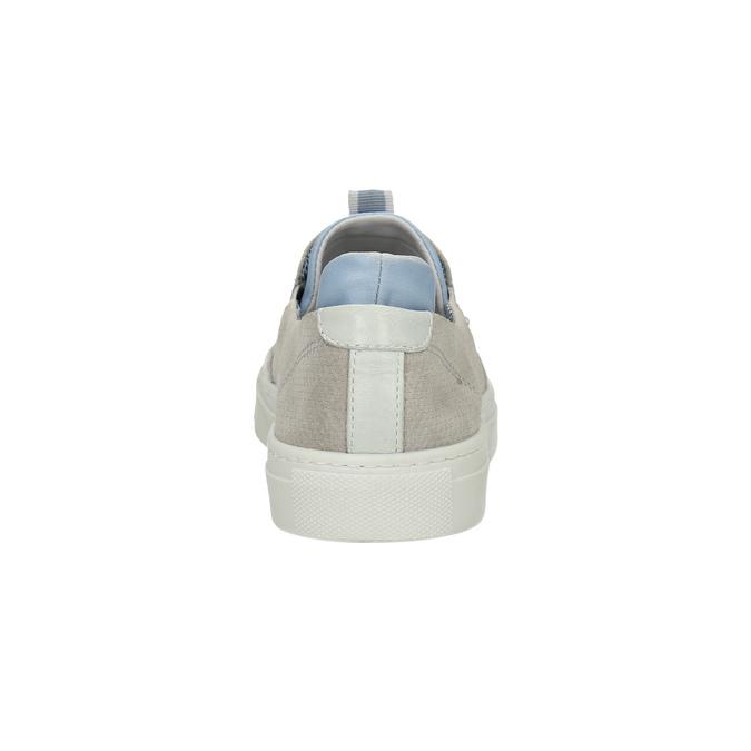 Dámska kožená Slip-on obuv bata, šedá, 516-2600 - 17