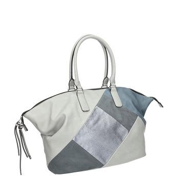 Dámska kabelka v Patchwork štýle bata, šedá, 961-9286 - 13