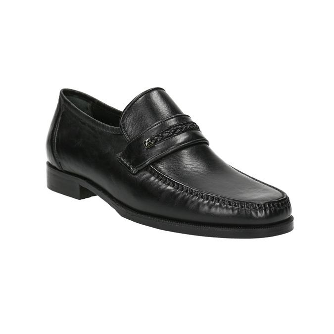 Kožená pánska Loafers obuv bata, čierna, 814-6621 - 13