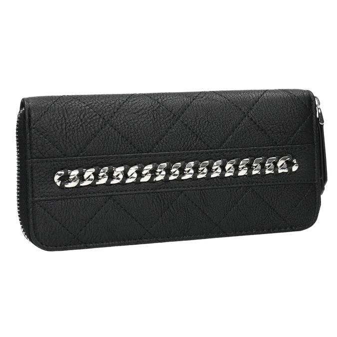 Peňaženka s prešívaním a retiazkou bata, čierna, 941-6146 - 13