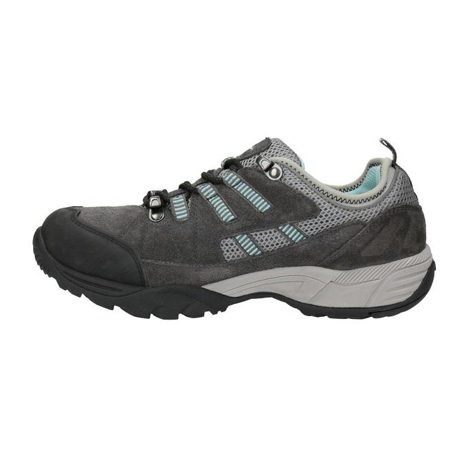 Dámske kožené Outdoor topánky power, šedá, 503-2118 - 26