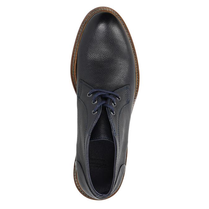 Celokožená členková obuv bata, modrá, 826-9909 - 19