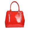 Červená lakovaná kabelka bata, červená, 961-5684 - 26