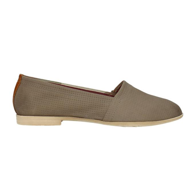 Dámska kožená Slip-on obuv bata, hnedá, 516-2602 - 15