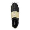 Čierne tenisky so zlatým pruhom north-star, čierna, 511-6602 - 19