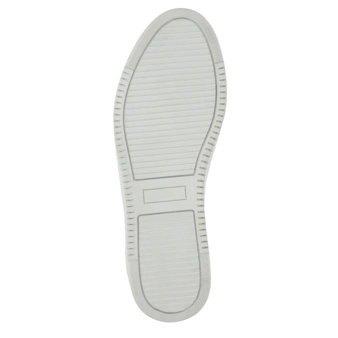 Kožené dámske tenisky bata, strieborná, 526-1630 - 26