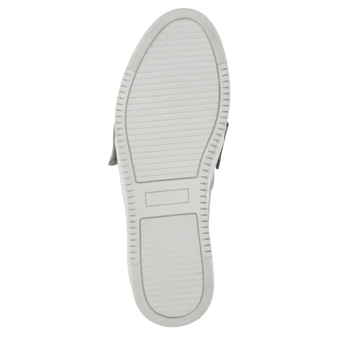 Kožená Slip-on obuv s mašľou bata, strieborná, 516-2605 - 26