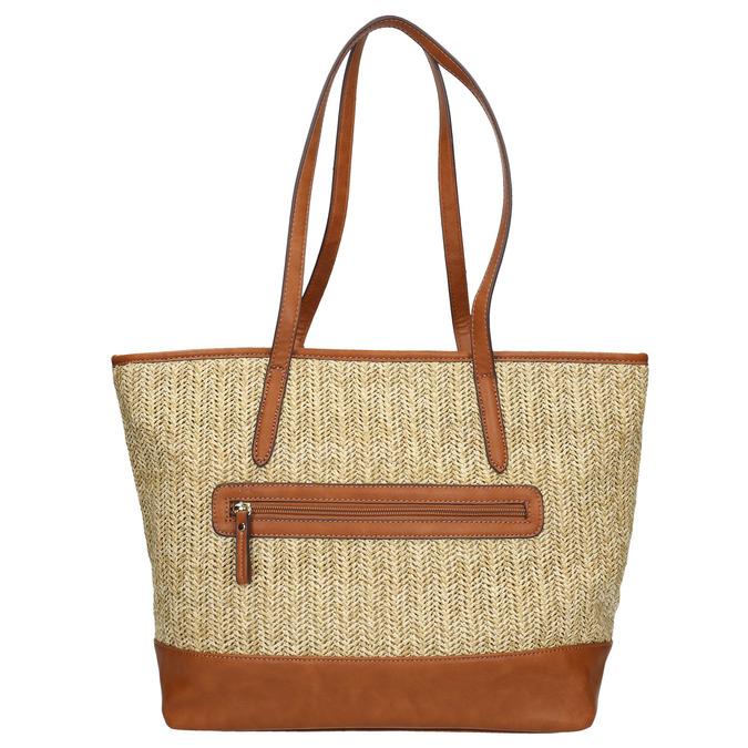 Shopper kabelka s pleteným vzorom gabor-bags, béžová, 961-8073 - 19