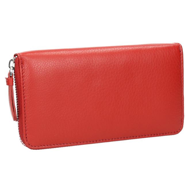Červená kožená peňaženka bata, červená, 944-5178 - 13