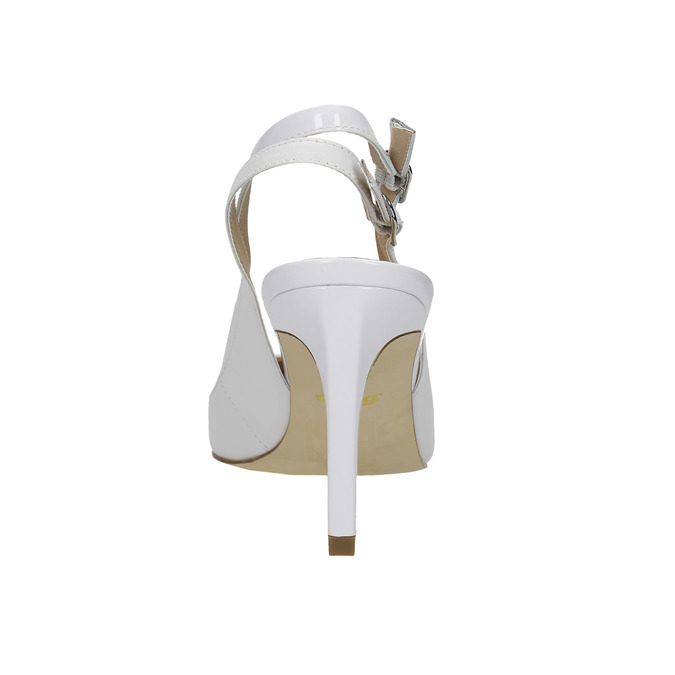 Biele kožené lodičky s voľnou pätou insolia, biela, 724-1634 - 17