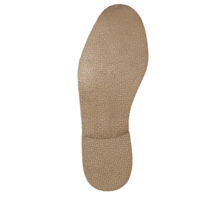 Hnedé kožené poltopánky s výrazným prešitím bata, hnedá, 826-4815 - 26