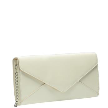 Lakovaná listová kabelka s retiazkou bata, biela, 961-1685 - 13