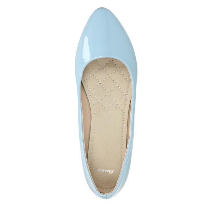 Svetlomodré dámske baleríny bata, modrá, 521-9602 - 19