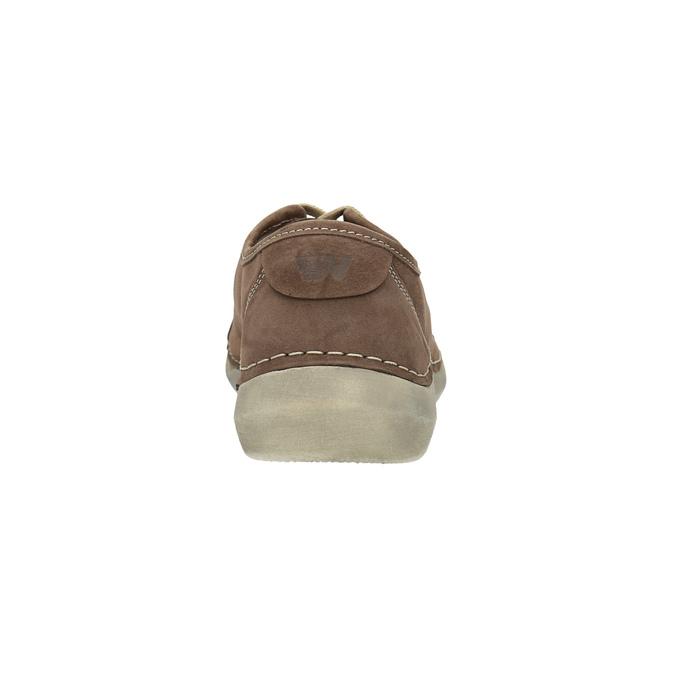 Ležérne dámske kožené poltopánky weinbrenner, hnedá, 546-4603 - 17