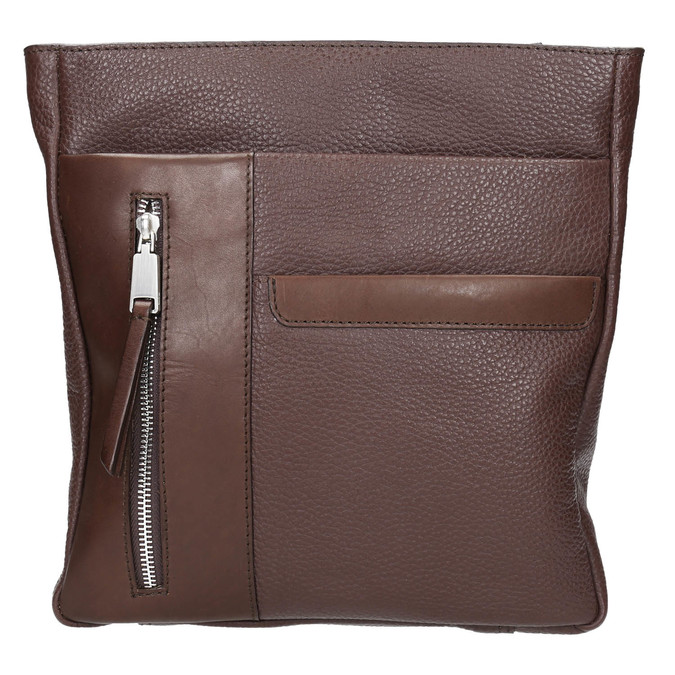 Kožená pánska Crossbody taška bata, hnedá, 964-4230 - 19