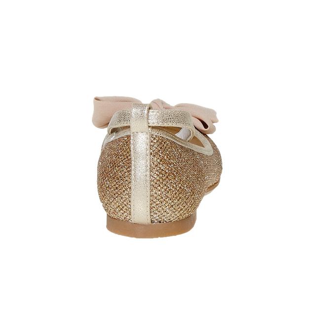 Dievčenské baleríny s mašľou mini-b, zlatá, 329-8241 - 17