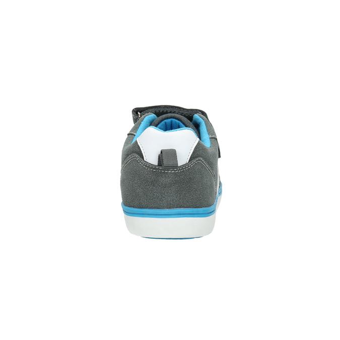 Detské tenisky na suchý zips mini-b, šedá, 419-2610 - 17