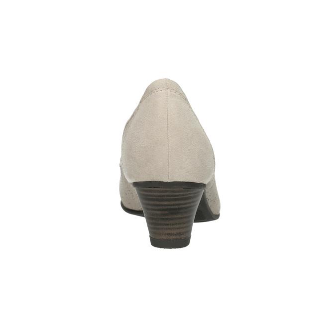 Kožené lodičky šírky H bata, šedá, 623-2602 - 17