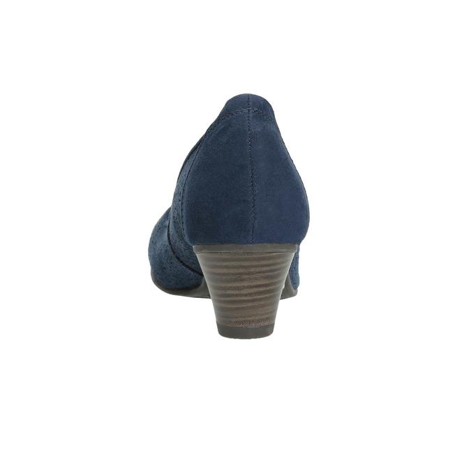 Kožené lodičky šírky H bata, modrá, 623-9602 - 17