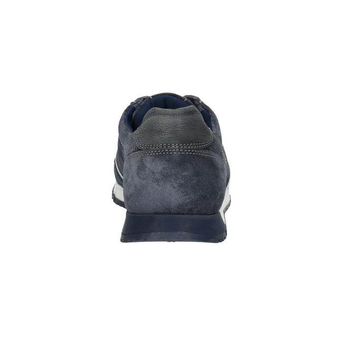 Pánske kožené tenisky bata, modrá, 843-9624 - 17