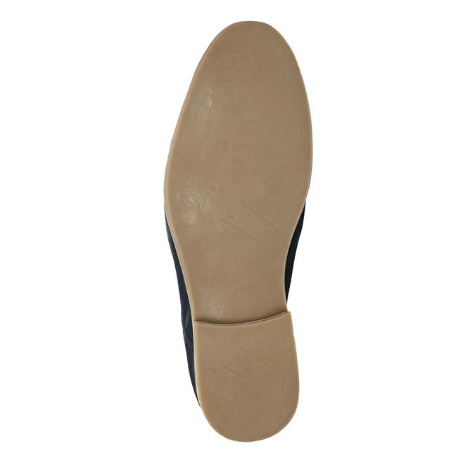 Poltopánky z brúsenej kože bata, modrá, 823-9602 - 26