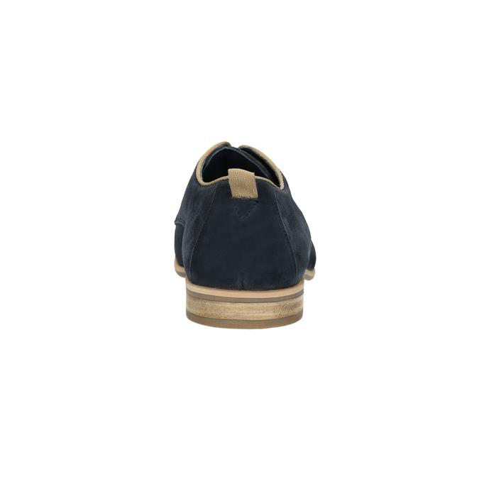 Poltopánky z brúsenej kože bata, modrá, 823-9602 - 17