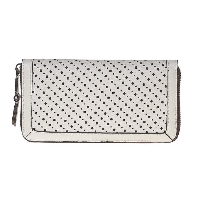 Dámska peňaženka s perforáciou bata, biela, 941-1147 - 26