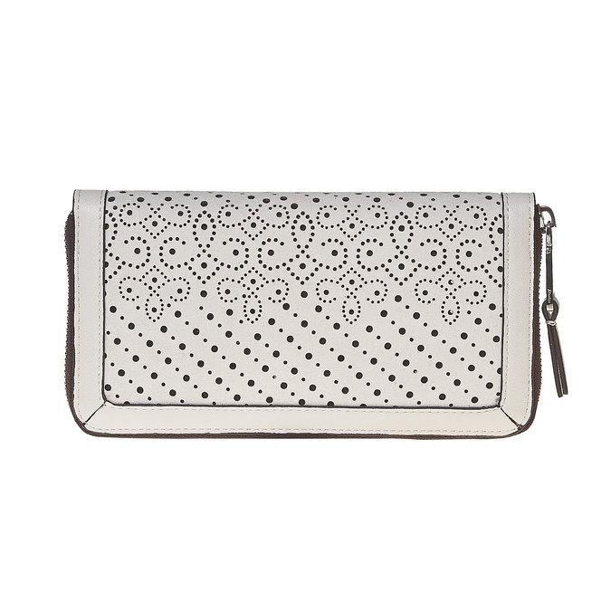 Dámska peňaženka s perforáciou bata, biela, 941-1147 - 17